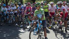 Nairo Quintana, con el maillot verde. (AFP)