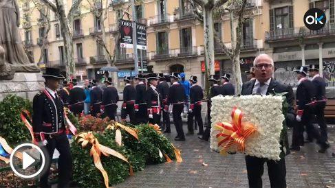 La ofrenda floral de Josep Bou en la Diada 2019