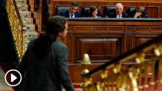 Pablo Iglesias en el pleno del Congreso.