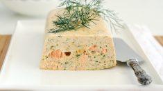 Receta de Paté de salmón ahumado y gambas