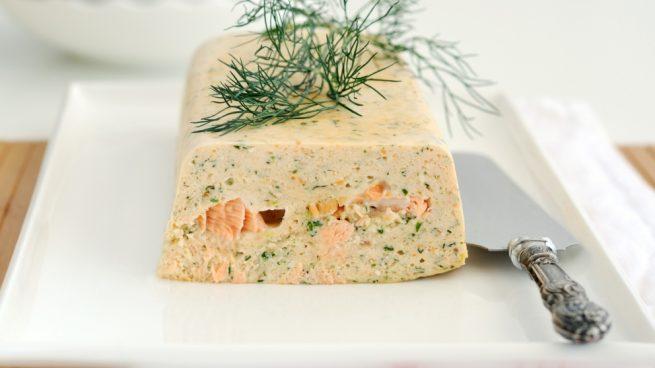 Paté de salmón ahumado y gambas