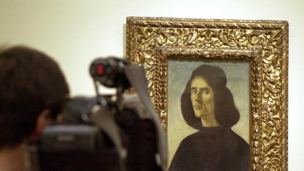 Retrato masculino realizado por Sandro Botticelli propiedad de la familia Cambó @EFE