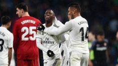 Vinicius y Casemiro, en un partido con el Real Madrid. (Getty)