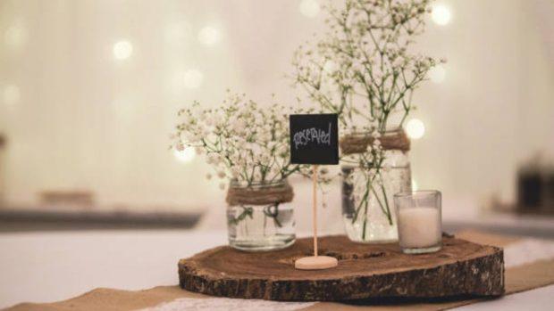 Cómo hacer centros de mesa para boda fáciles