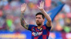 Leo Messi, en su presentación esta temporada con el Barça.