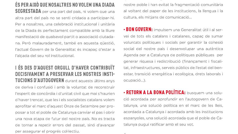 """La nueva oferta del PSOE al separatismo: pactar una solución """"en Cataluña"""" que vote """"el pueblo catalán"""""""