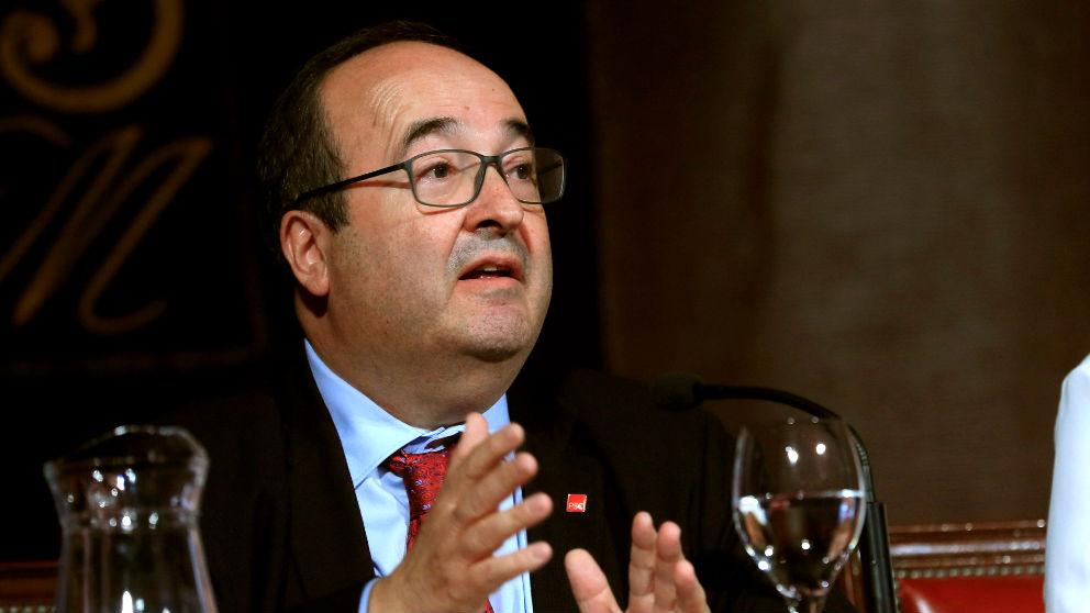 Miquel Iceta este jueves durante su conferencia en Madrid (Foto: EFE).
