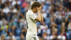 Modric, en un partido con el Real Madrid. (AFP)