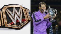El cinturón de Campeón Mundial de los Pesos Pesados de WWE y Rafa Nadal.