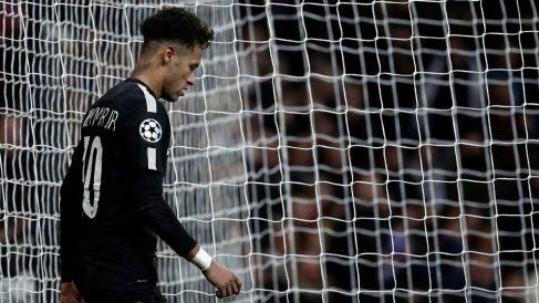 Neymar, en un partido de Champions con el PSG. (Getty)