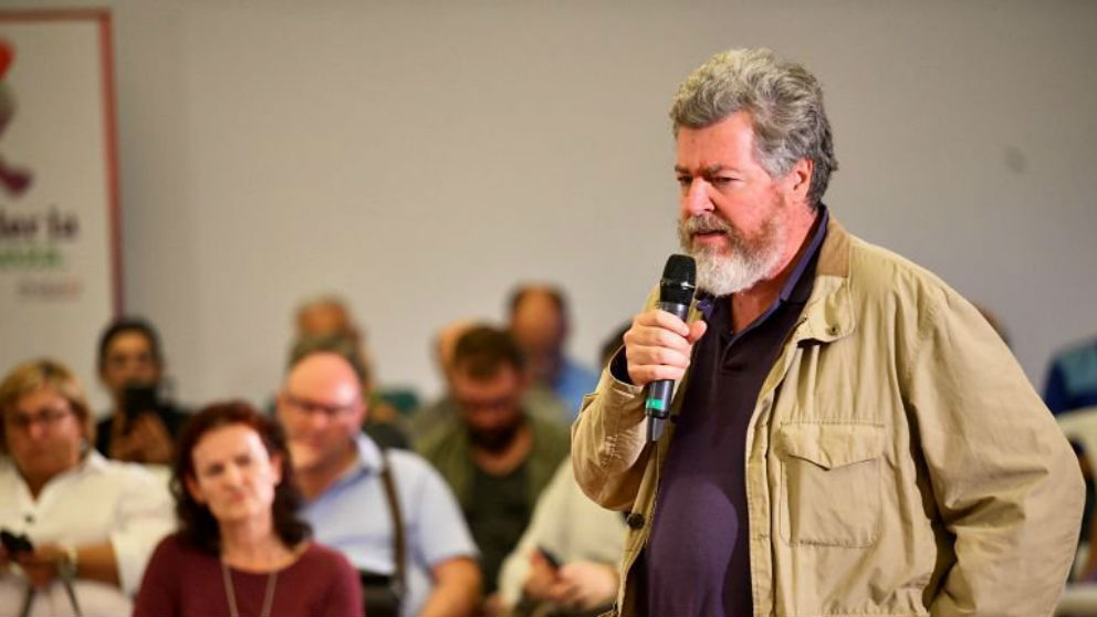 El diputado Juan López de Uralde, este jueves en un acto de Unidas Podemos en Bilbao. (Foto: @juralde)