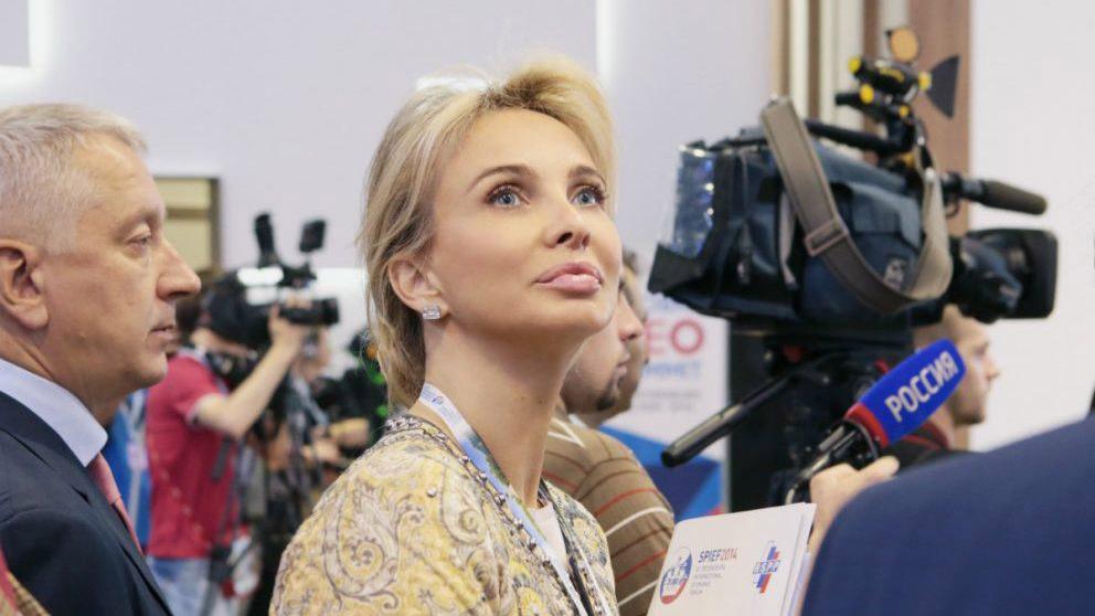 Corinna Zu Sayn Wittgenstein, en un foro empresarial en San Petersburgo (Getty).
