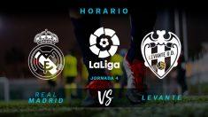 Real Madrid – Levante: jornada 4 de la Liga Santander.