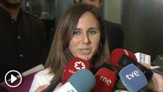 La portavoz de Unidas Podemos en el Congreso, Ione Belarra.