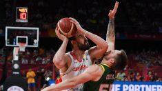 Marc Gasol, en el partido contra Australia. (AFP)