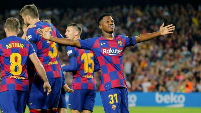 Ansu Fati se entrena con normalidad apunta al Sevilla