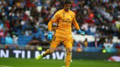 Thibaut Courtois, durante el Real Madrid – Levante. (EFE)