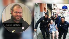 Carles Ventura, concejal de la CUP, llama «imbéciles» a los policías que participan en el operativo frente a la DANA.
