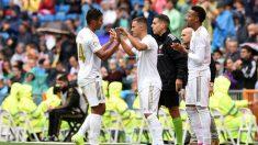 Hazard debutó con el Real Madrid entrando por Casemiro (Getty).