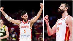 Marc y Rudy conquistan su segundo campeonato del mundo de baloncesto. (Getty)