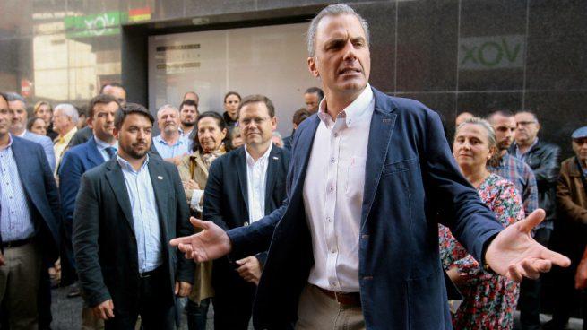Ortega Smith en Salamanca. Foto: EFE