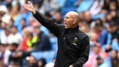 Zidane, en el partido contra el Levante. (Getty)