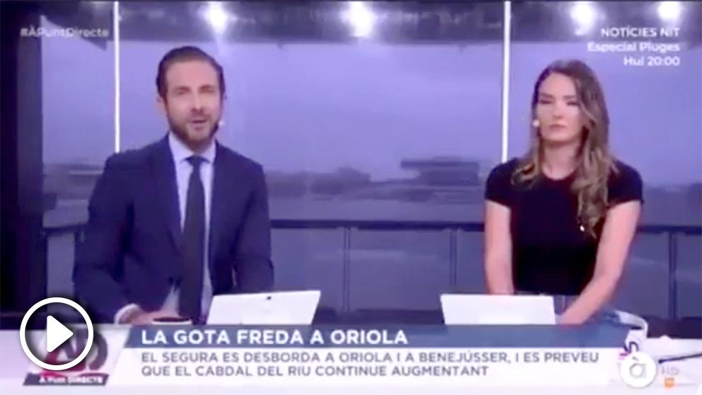 El alcalde de Orihuela entrevistado en 'À Punt' sobre las inundaciones provocadas por la fuerte gota fría.