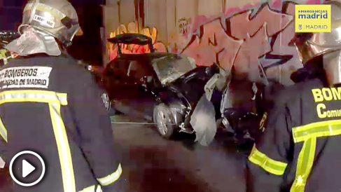 Accidente en la M-50 de Madrid.