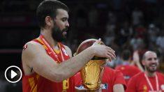 Marc Gasol fue el líder de España en el Mundial. (AFP)