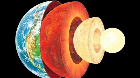 ¿Cómo se calcula la profundidad del núcleo de la tierra?