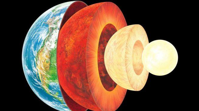 La profundidad del núcleo de la tierra