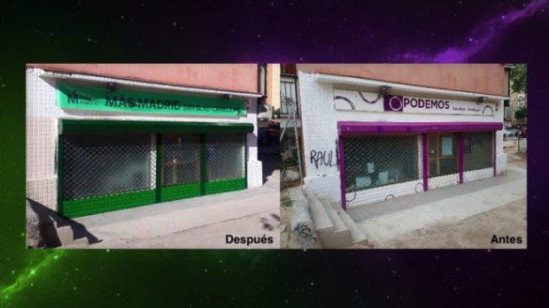 Denuncias y cambios de cerradura: Podemitas y errejonistas se pelean por las sedes de los barrios