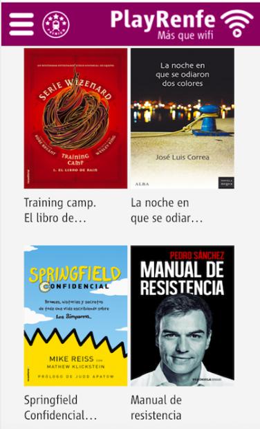 El 'Manual de resistencia' de Sánchez entre los 14 libros que la empresa pública Renfe facilita a sus viajeros