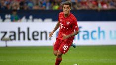 Coutinho, en un partido con el Bayern. (AFP)