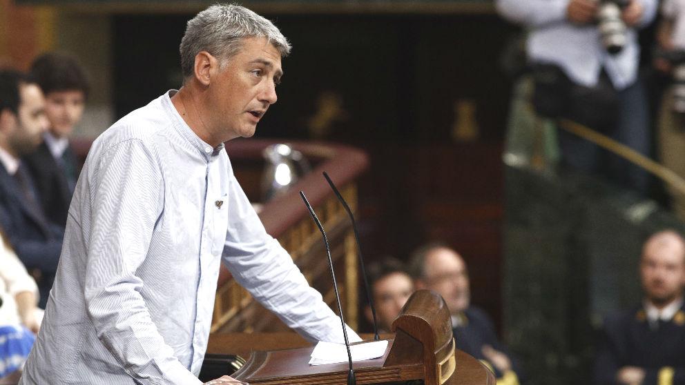 Oskar Matute, diputado de EH Bildu en el Congreso. (Foto: Europa Press).