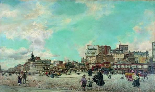 Giovanni Boldini. Place Clichy, 1874. Óleo sobre lienzo. Colección particular