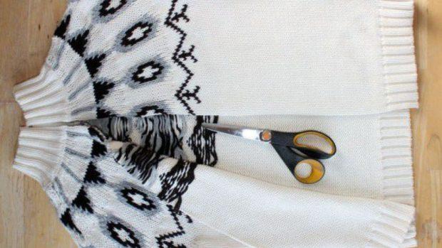 Cómo convertir un jersey en un cárdigan