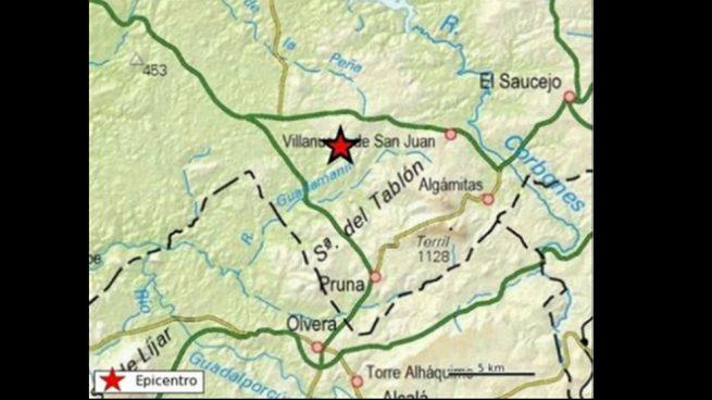 Un terremoto de magnitud 3,9 sacude Villanueva de San Juan (Sevilla) esta madrugada
