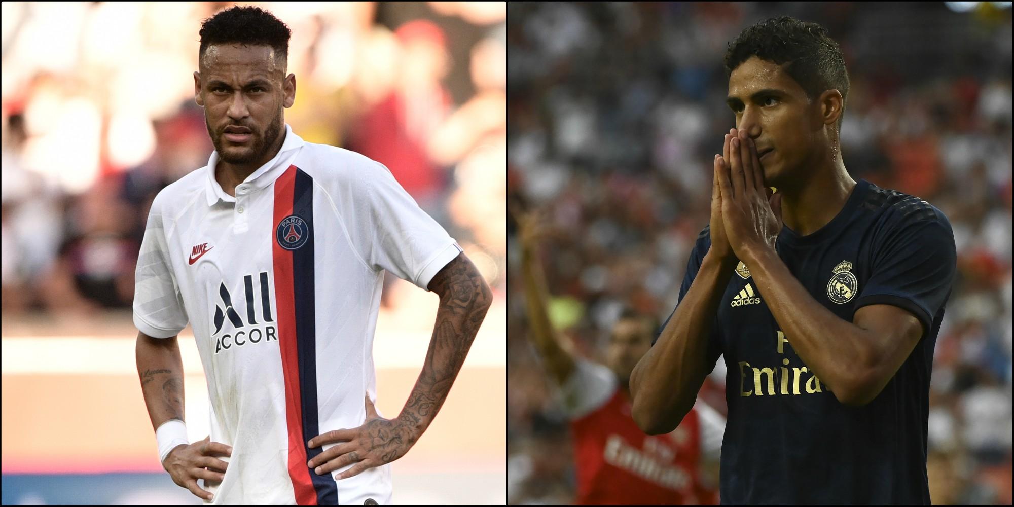 Varane habla de los rumores que vincularon a Neymar con el Real Madrid.