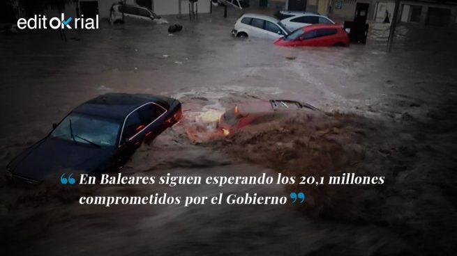 Inundaciones: Sánchez, más ayudas y menos postureo
