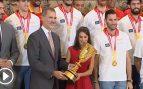 Los reyes reciben a la selección española de baloncesto en Zarzuela