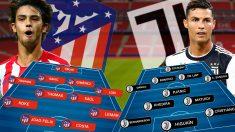Atlético y Juventus se enfrentan en el Metropolitano.