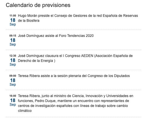 La ministra Ribera cancela su asistencia al foro de energía en el que participó su marido y después de presenta
