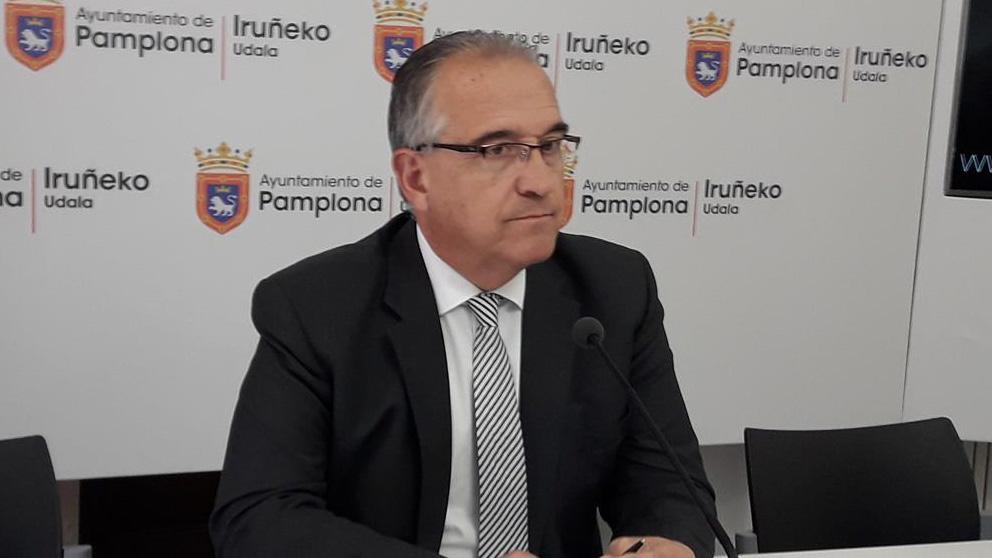 Enrique Maya, alcalde de Pamplona por Navarra Suma. Foto: EP