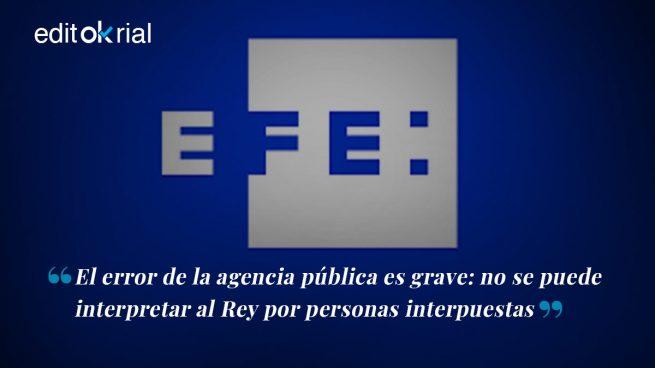 Desmentido histórico de Zarzuela a la agencia EFE