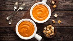 Receta de crema de calabaza y naranja