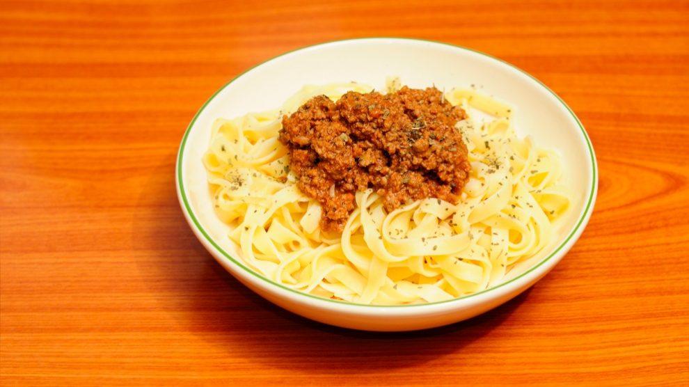 Receta de Pasta con boloñesa de venado