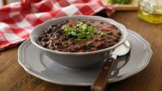Receta de Sopa de frijoles, setas y verduras