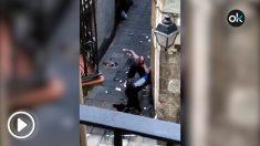 Pelea por el robo de una bombona en Barcelona.