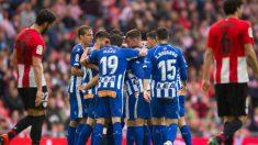 El Alavés en un partido ante el Athletic (Deportivo Alavés)